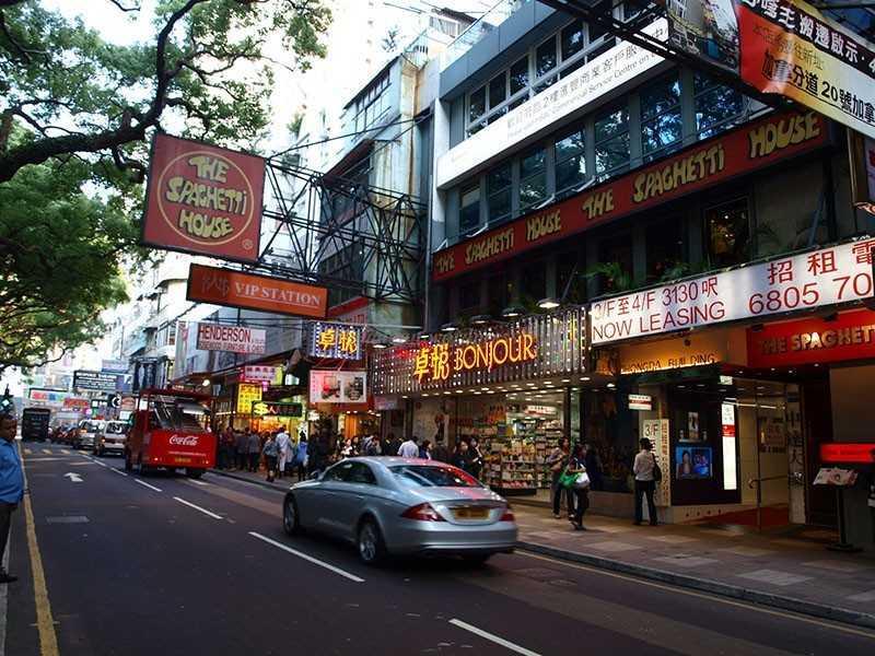 Район TsimShaTsui, Гонконг.
