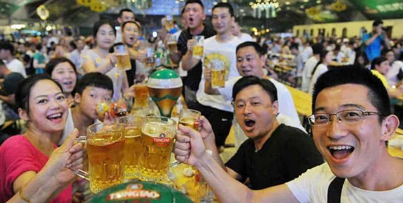 Фестиваль пива в Китае.