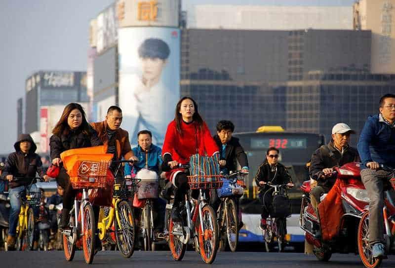 Пекин, Китай, велосипеды