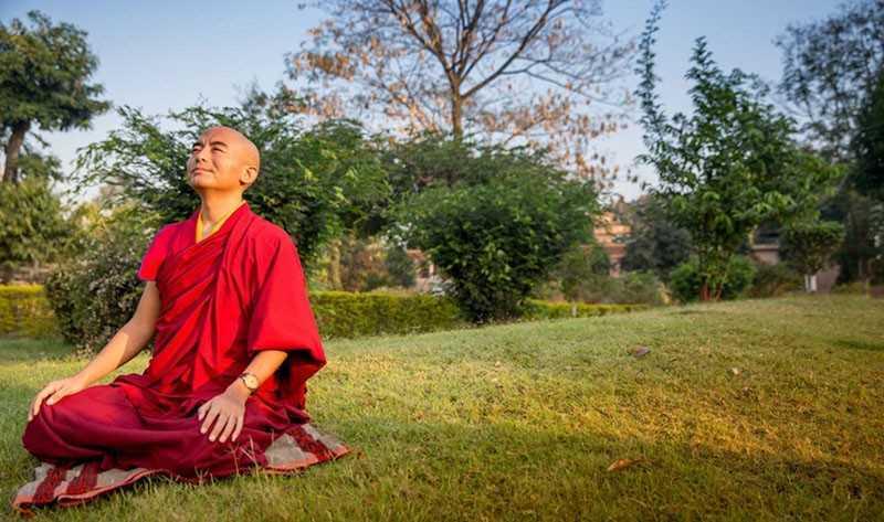 Медитация тибетского монаха