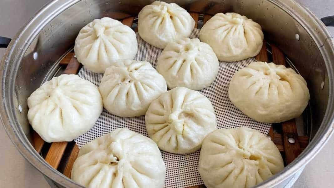 Китайские пампушки, еда в китае