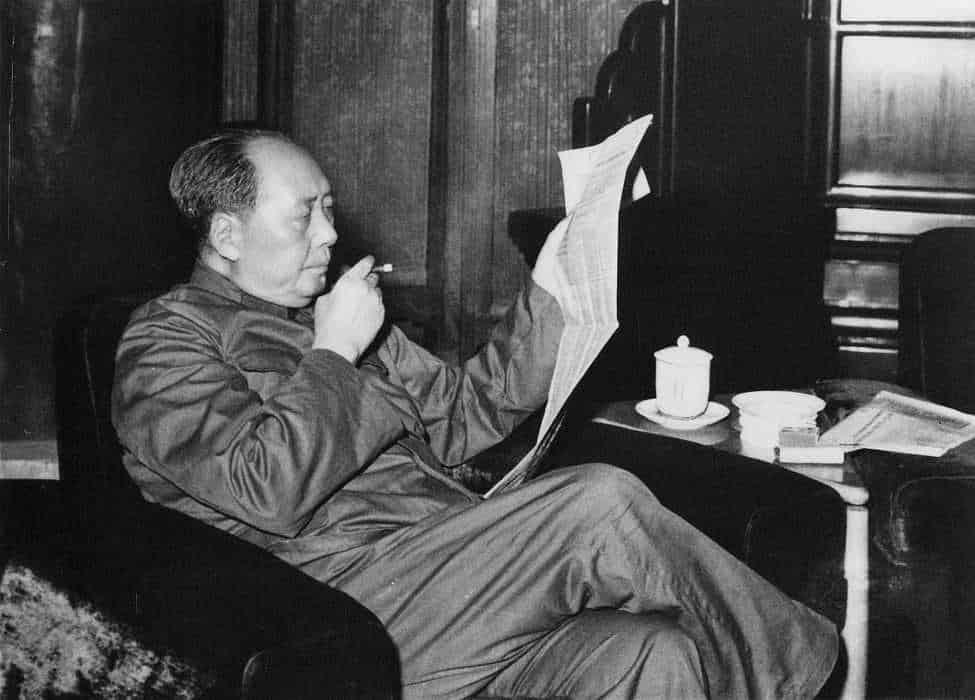 На фото: Мао Цзэдун первый лидер КНР