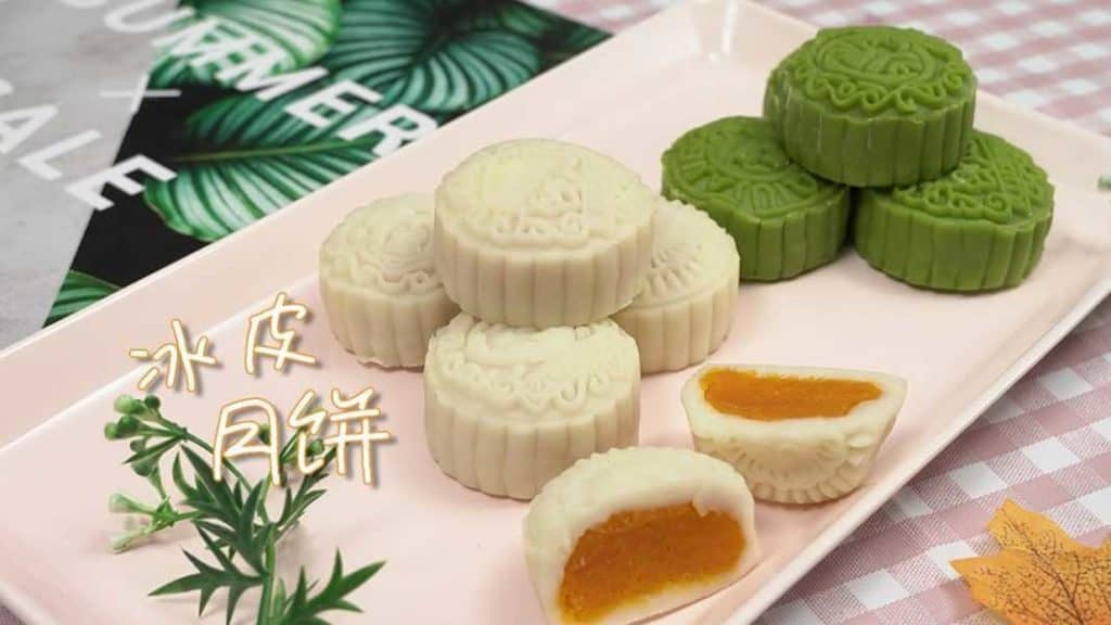 Ледяной юэбин (冰皮月饼)