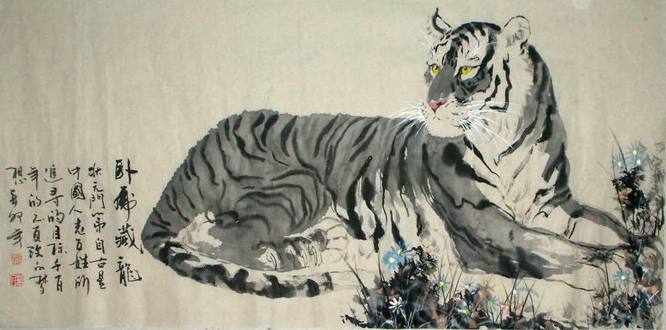 белый тигр Бай-Ху
