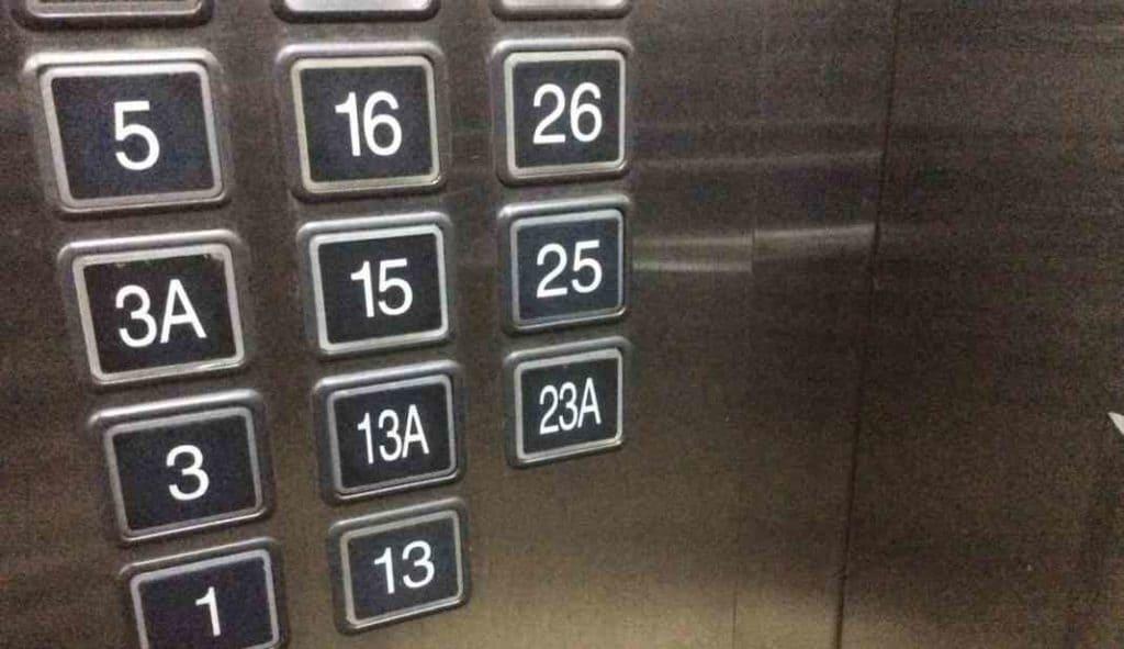 Китайские суеверия с числами. Лифт в Китае.