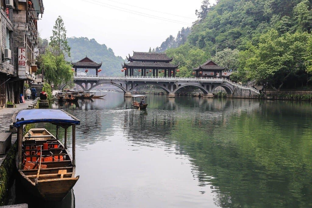 Река Туцзя, город Фэнхуан
