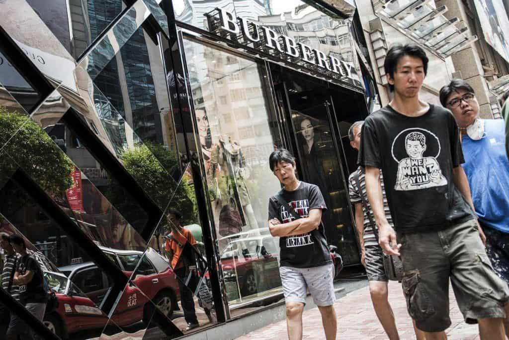 Burberry в Китае